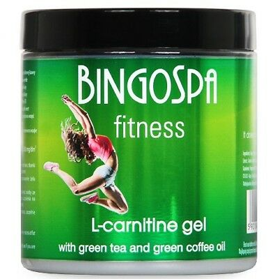 BingoSpa Fitness L-Carnitine Slimming Gel Green Tea and Green Coffee Oil 250g