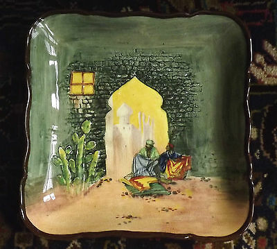 Vintage Arabian Themed Dish - Royal Doulton - England - Plate - Unusual -