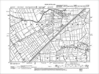 Tydd St Giles, Newton, old map Cambridgeshire 1903: 4NW