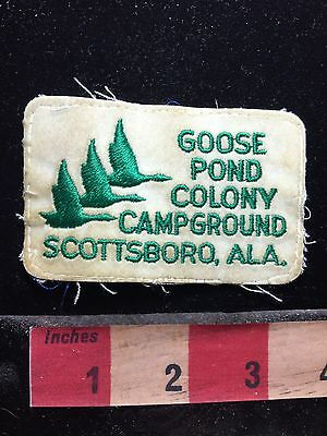 Vtg Scottsboro Alabama Patch - Goose Pond Colony Campground - Camper C76L