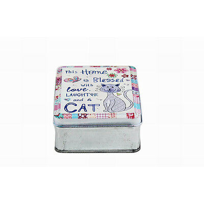 Cat trinket box - metal - **NEW** Sale!