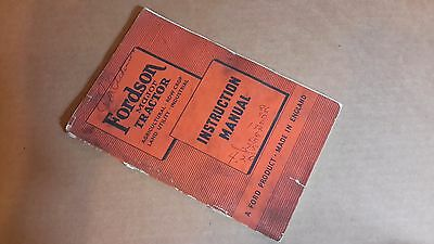 Fordson Major Tractor Instruction Manual 1951