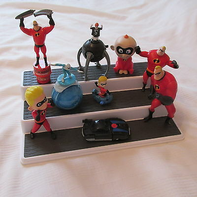 Disney Pixar The Incredibles Great Lot 9 Mcdonalds Toys Dash Jack Frozone