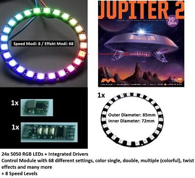 "24 Light Chaser Multicolor Kit Jupiter 2 II Moebius Lost in Space 18"" Moe 913"