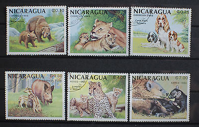 Nicaragua 1988 Mammals and Their Young. Used