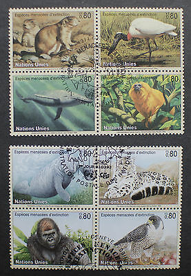 United Nations 1993-94 Animals Stamped Used