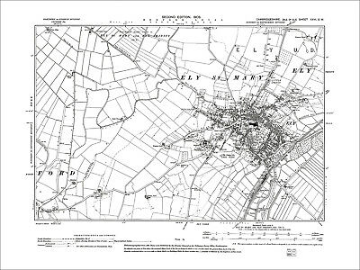 Ely, old map Cambs 1903: 26SW