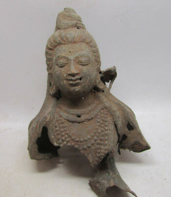 Ancient Gandharan fragment of a buddha statue