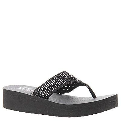 SKECHERS VINYASA Unicorn Mist Flip Flops Wedge Toe Post