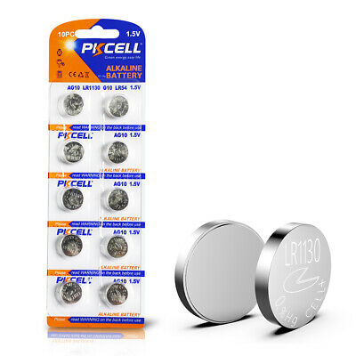 390 389 AG10 LR1130 189 1.5V Alkaline Button Coin Cell Watch Battery 10pc