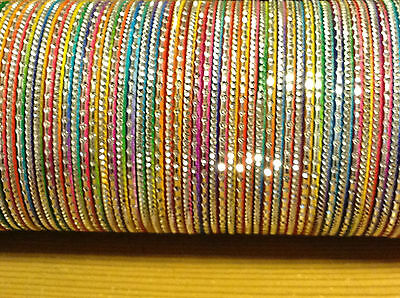 Set of 12 Indian Bangles in Multicolours for Girls Kids Children