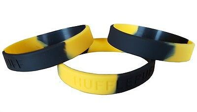 Hogwarts Hufflepuff House Colours Silicon Rubber Wristband