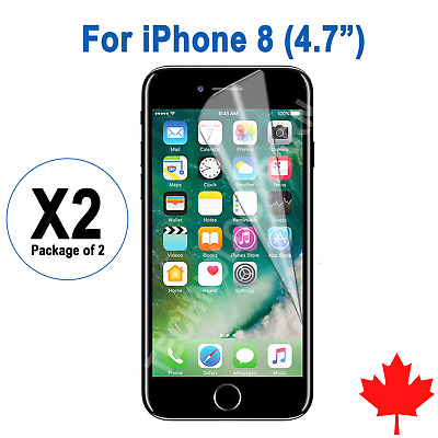 """2x Ultra Clear Screen Protector For iPhone 8 4.7"""""""