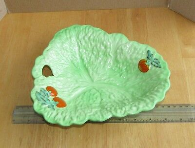 Vintage Beswick Ware Raised Leaf Dish with Tomato design
