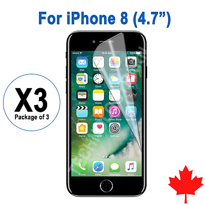 """3x Ultra Clear Screen Protector For iPhone 8 4.7"""""""