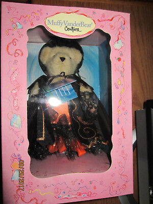 North American Bear Muffy VanderBear Couture 2002 GLAM WITCH Mint in Box w/Stand