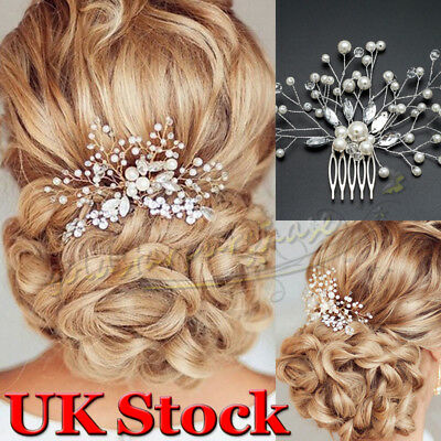 Graceful Wedding Hair Comb Crystal Pearl Bridal Comb Silver Party Headpiece Gift