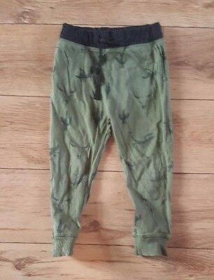 Boys 'H&M' Green elasticated casual trouser. 4-5 Years. vgc.