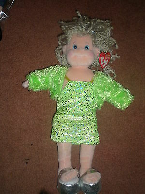 Vintage RARE GLITZY GABBY FROM TY BEANIE BOPPER COLLECTION  DOLL, 2001 NWT