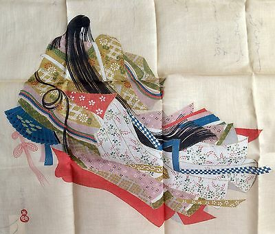 Vintage Asian Handkerchief Tag Attached