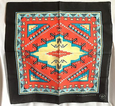 Vintage Southwestern Tribal Print Bandana RN 16463 Cotton Blend Made in USA