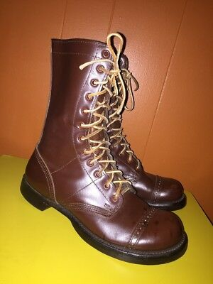 Corcoran Historic Military Jump Boots 1510 Brown Leather 7D Made In USA