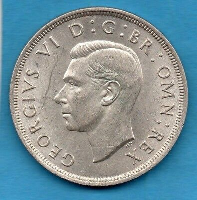 1937 George Vi Silver Crown Coin. 5/.  Royal Coat Of Arms Reverse.