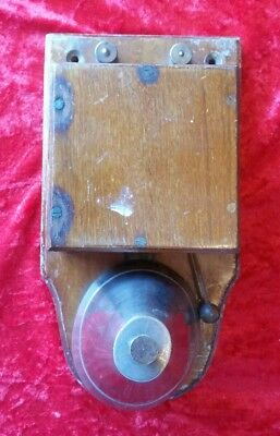Antique Vintage Old Wooden Electric Door Railway Butlers Alarm Bell c1930s