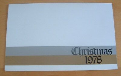 Australia Post Stamps Presentation Pack - Christmas 1978 - Mint Condition Mnh