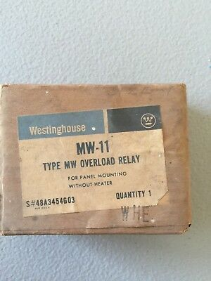 New In Box Westinghouse Overload Relay Mw-11 S#48A3454G03