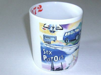 Sex Pistols Collectable Mug Downpace Limited London Dated 1972 Year Band Formed