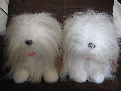 Set Of 2 Life-Size Plush Shih Tzu Puppies