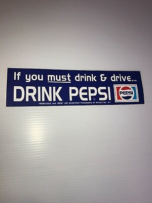 Pepsi Cola Collectable Bumper Sticker Free shipping. Lot of 4 stickers