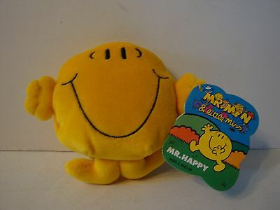 Mr Happy Playmates Toys Mr Men and Little Miss Plush Doll Toy 1997