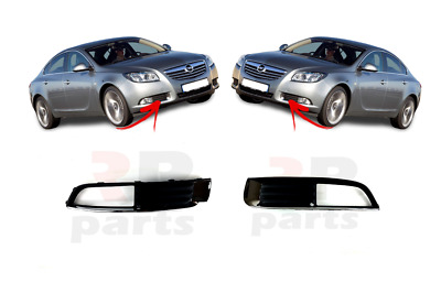 New Vauxhall Opel Insignia Pair Fog Light Grille With Chrome L + R  2009 - 2014