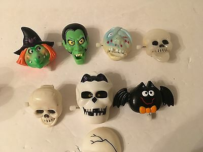 Lot of 7 Halloween Amimated Pins Russ Fun World Lapel Witch Frankenstein Vtg