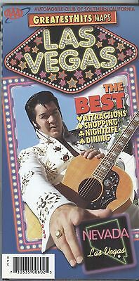 AAA Map & Guide GreatestHits: LAS VEGAS Nevada Elvis Presley  - display used