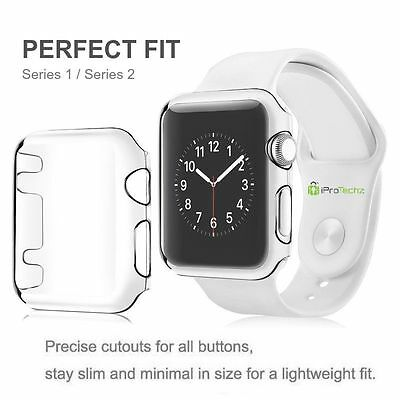 New Hard Snap On Case Cover Protector For Apple i Watch 38mm Series 3 (Clear)