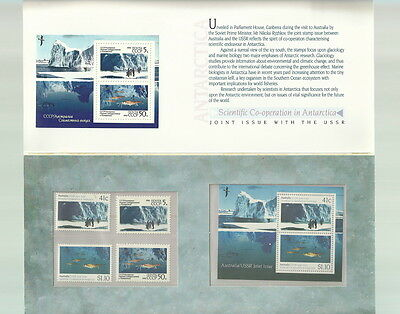 1990 AUSTRALIA & RUSSIA JOINT ISSUE MNH Antarctic Research MINI SHEETS & SINGLES