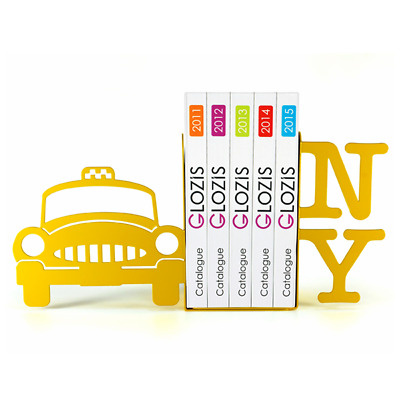 Glozis - Gift Steel bookends - New York Taxicab (Yellow)
