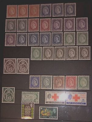 Mint & Used St Vincent 1955-1966. 62 Stamps.