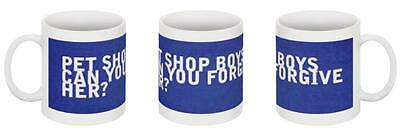 PET SHOP BOYS - 2x CAN YOU FORGIVE HER? CERAMIC MUG SET ~ ONE-OFF EXCLUSIVE!!!