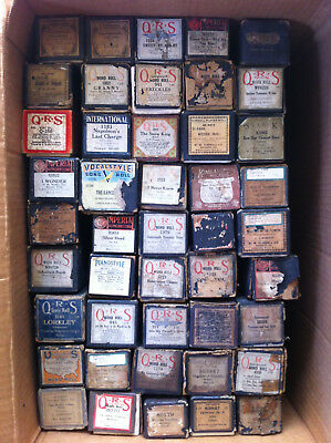 Lot of 45 Player Piano Rolls