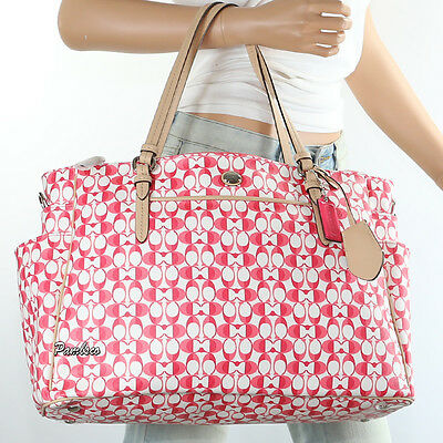 Nwt Coach Dream C Diaper Baby Bag Multifunction Tote F30541 Pink Rare New