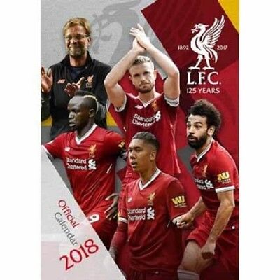 2018 A3 Official Liverpool Calendar, Wall Calender