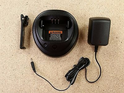 WPLN4154AR NiCD Charger & Belt Clip For Motorola Radio CP150 CP200 PR400 EP450