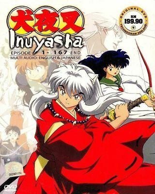 Inuyasha Complete ENGLISH DUBBED Series Box Set Episode 1-167 End