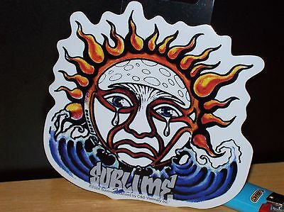 """Sublime Weeping Sun Sticker New Officially Licensed 4"""" X 4"""""""
