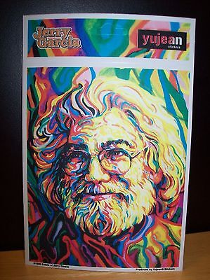 """Jerry Garcia Painted Portrait Sticker New Officially Licensed 4.5"""" X 5.5"""""""