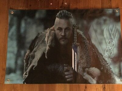 3 x2 foot full colour vinyl poster of VIKINGS valhalla  great man cave pool room